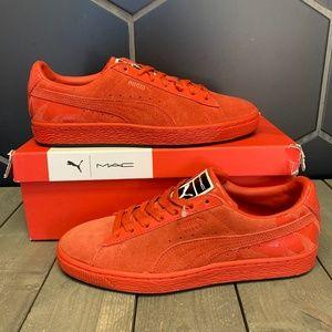 Womens Puma Suede Classic x Mac Two Fiery Red Shoe